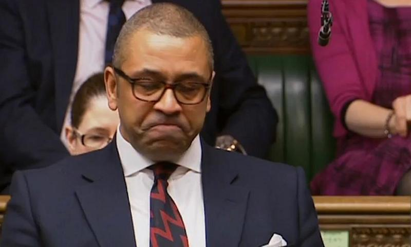 James Cleverly speaks in the Commons