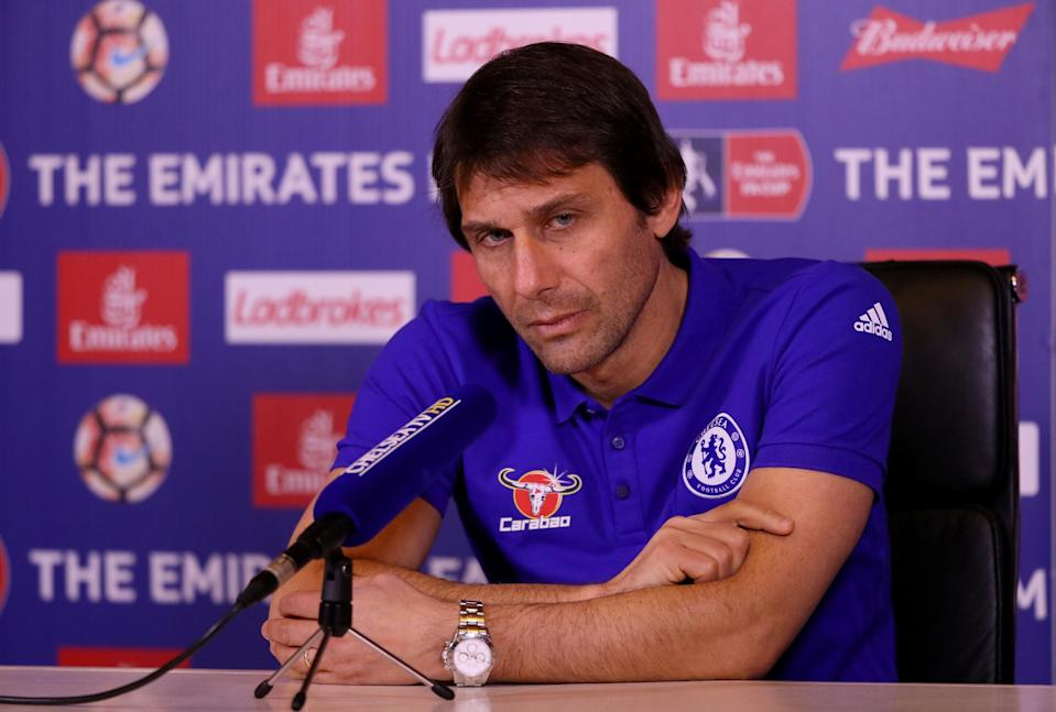 COBHAM, ENGLAND – JANUARY 06: Antonio Conte, Chelsea mananger, is pictured during a press conference at Chelsea Training Ground on January 6, 2017 in Cobham, England. (Photo by Andrew Redington/Getty Images)