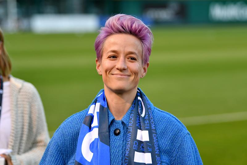Megan Rapinoe has partnered with women-owned CBD company Mendi. (Photo by Alika Jenner/Getty Images)
