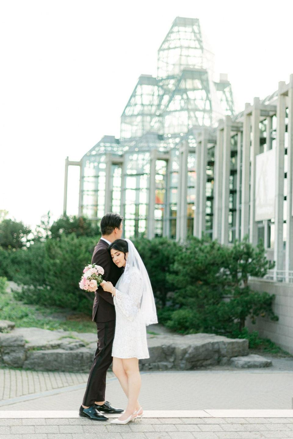 """The couple eloped on their original wedding date. (Photo: <a href=""""https://www.laceandluce.com/"""" target=""""_blank"""">Lace and Luce </a>)"""