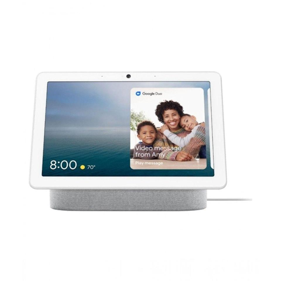 """<p>Google</p><p><strong>$229.00</strong></p><p><a href=""""https://store.google.com/us/config/google_nest_hub_max?hl=en-US"""" rel=""""nofollow noopener"""" target=""""_blank"""" data-ylk=""""slk:Buy Now"""" class=""""link rapid-noclick-resp"""">Buy Now</a></p><p>The Google Next Hub Max can be used for anything from Google Meet meeting to playing music, but my personal favorite feature is how you can ask it to walk you through any cooking recipe, step by step. </p>"""