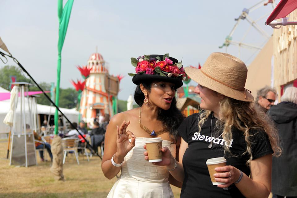 Festival-goers discuss life, death and helter-skelters