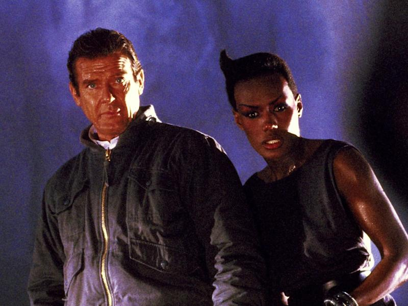 Roger Moore and Grace Jones in 'A View to a Kill'Rex Features