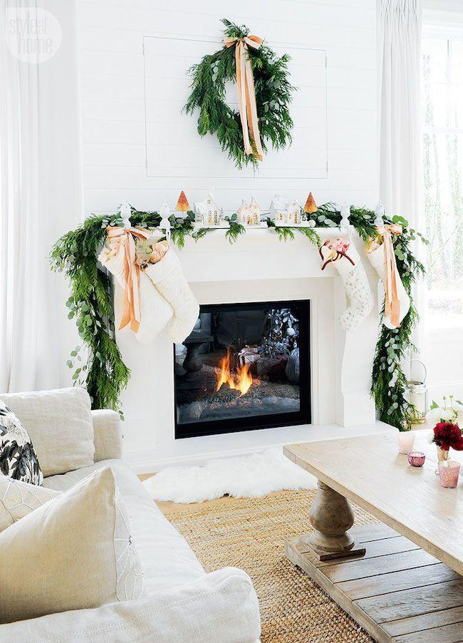 "<p>For a bright and airy look that suits any modern space, lean on greenery and a singular unexpected color—like peach. </p><p><em>See more at <a href=""http://www.jacquelynclark.com/2016/11/22/pink-christmas-home-tour/"" rel=""nofollow noopener"" target=""_blank"" data-ylk=""slk:Lark & Linen"" class=""link rapid-noclick-resp"">Lark & Linen</a>.</em></p><p><a class=""link rapid-noclick-resp"" href=""https://www.amazon.com/VATIN-Double-Faced-Polyester-Ribbon/dp/B07TLZ63XL?tag=syn-yahoo-20&ascsubtag=%5Bartid%7C10072.g.34484299%5Bsrc%7Cyahoo-us"" rel=""nofollow noopener"" target=""_blank"" data-ylk=""slk:SHOP PEACH-COLORED RIBBON"">SHOP PEACH-COLORED RIBBON</a></p>"