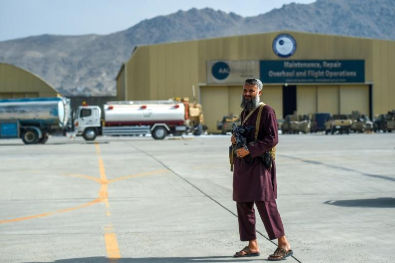 After two decades as a hub of Western intervention in Afghanistan, Kabul international airport is now in the hands of the victorious Taliban militia (AFP/Wakil KOHSAR)