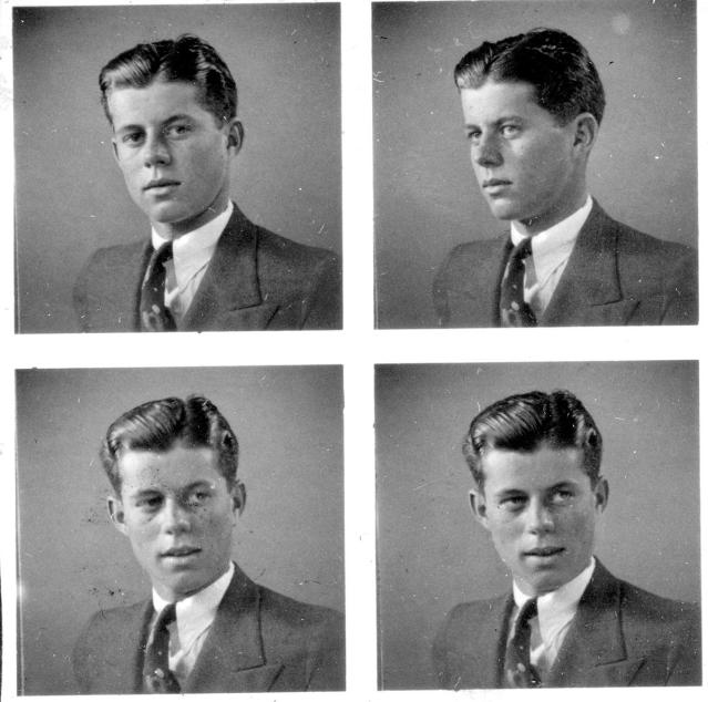 <p>Four pictures of John F. Kennedy posing for a portrait, circa 1935. (Photo: John F. Kennedy Presidential Library and Museum) </p>