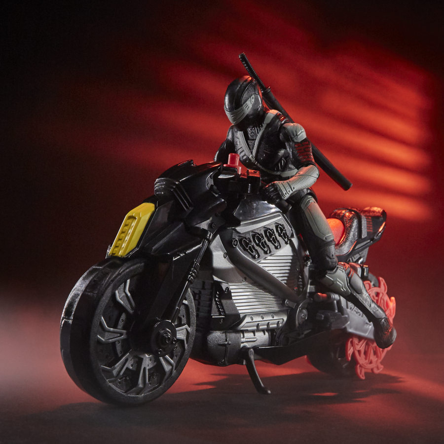 Snake Eyes: G.I. JOE Origins Snake Eyes with Stealth Cycle (Photo: Hasbro)