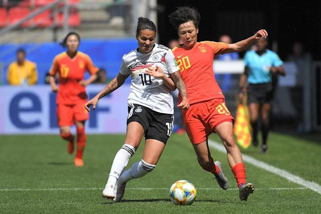 Lyon star Dzsenifer Marozsan broke her toe in Germany's opening World Cup game against China (AFP Photo/LOIC VENANCE)