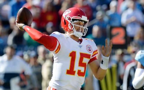 <span>Kansas City Chiefs quarterback Patrick Mahomes has passed exquisitely this season</span> <span>Credit: AP </span>