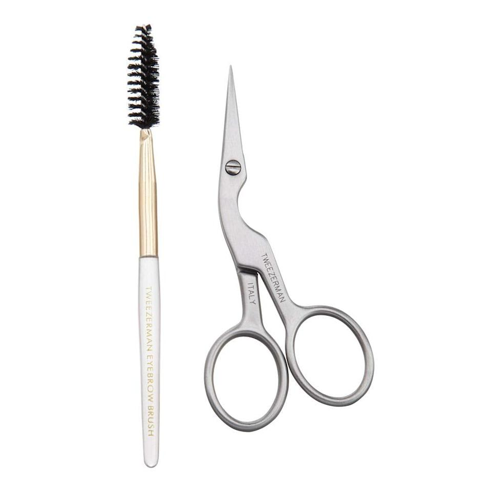 """<p>The actress explained that she usually brings a brow brush (similar to the one in the <a href=""""https://www.popsugar.com/buy/Tweezerman-Brow-Shaping-Scissors-Brush-499774?p_name=Tweezerman%20Brow%20Shaping%20Scissors%20and%20Brush&retailer=amazon.com&pid=499774&price=11&evar1=bella%3Auk&evar9=46742899&evar98=https%3A%2F%2Fwww.popsugar.com%2Fbeauty%2Fphoto-gallery%2F46742899%2Fimage%2F46743375%2FCamila-Mendes-Go-To-Product-For-Her-Brows&list1=celebrity%20beauty%2Cbeauty%20interview%2Criverdale%2Ccamila%20mendes&prop13=api&pdata=1"""" rel=""""nofollow"""" data-shoppable-link=""""1"""" target=""""_blank"""" class=""""ga-track"""" data-ga-category=""""Related"""" data-ga-label=""""https://www.amazon.com/Tweezerman-Shaping-Scissors-Brush-2914-R/dp/B000WHYB1A/ref=sr_1_5?keywords=brow+spoolie&amp;qid=1570647354&amp;sr=8-5"""" data-ga-action=""""In-Line Links"""">Tweezerman Brow Shaping Scissors and Brush</a> ($11) set) with her wherever she goes, keeping it in her pocket or her bag. Her go-to look is fluffed and brushed out, and she only uses eyebrow makeup while on set or when she is already wearing a full face of makeup. """"My brows are pretty dark as it is,"""" she said. """"They're black. There's a lot of hair in there, so I'm OK with just using my brow brush. I don't really need to fill them in, but I do if I'm going for a bolder makeup look.""""</p>"""