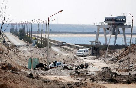 FILE PHOTO: A view shows part of the northern part of the Tabqa Dam on the Euphrates River