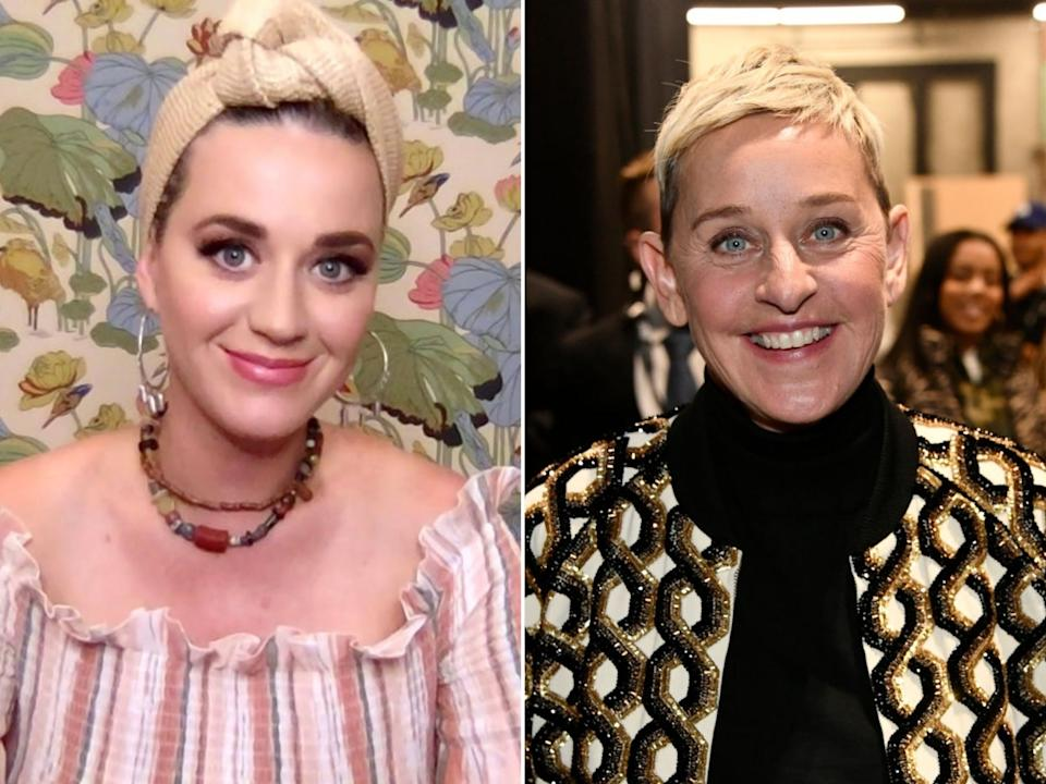 Katy Perry and Ellen DeGeneres: Frazer Harrison/Getty Images