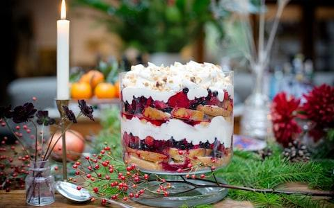 Clodagh McKenna's winter berry trifle - Credit:  Kirstie Young