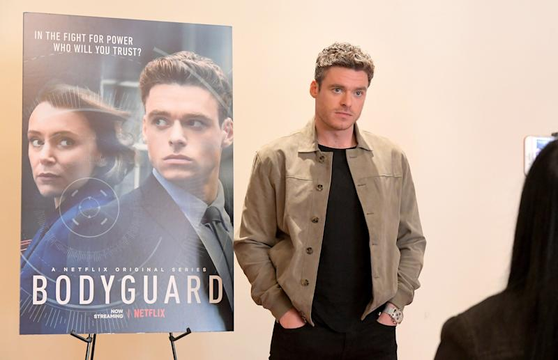 "Richard Madden promotes ""Bodyguard"" at a Netflix screening. (Photo: Charley Gallay/Getty Images for Netflix)"