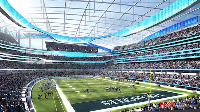 <p>A rendering of the NFL stadium. (Photo: Courtesy LA 2024) </p>