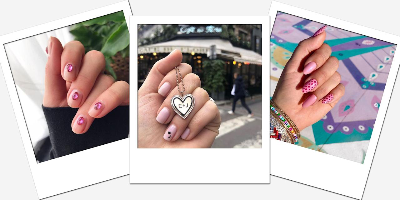 <p>Valentine's Day is the perfect excuse to adorn your fingertips with hearts, glitter, and multiple shades of pink. Whether you're looking for something ultra-girly or with plenty of edge, you'll love these manicure ideas long after that last chocolate has disappeared from the heart-shaped box. </p>