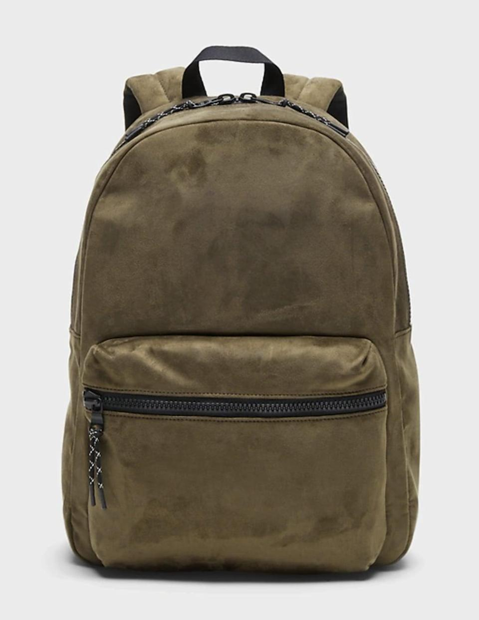 <p>Give him this <span>Vegan Suede Backpack</span> ($99) for all his daily essentials.<br></p>