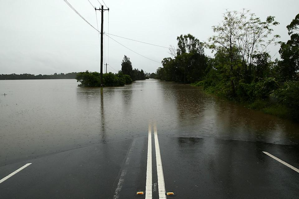 <p>Roads are washed out in the Sydney suburb of Mulgrave.</p>