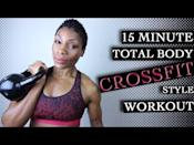 """<p>AMRAP (As Many Reps As Possible) is a style of <a href=""""https://www.womenshealthmag.com/uk/fitness/strength-training/a32892177/circuit-training/"""" rel=""""nofollow noopener"""" target=""""_blank"""" data-ylk=""""slk:circuit training"""" class=""""link rapid-noclick-resp"""">circuit training</a> that works your cardio and muscular endurance. You'll be given a set number of reps per exercise and told to complete as many rounds within a set amount of time.<br><br>We recommend pacing yourself through it – go too hard and you risk dropping off heavily towards the end. Instead, pick a pace that allows you to keep slugging on right to the end. </p><p><a href=""""https://www.youtube.com/watch?v=8kPKEsG0Mfs&ab_channel=PuzzleFit"""" rel=""""nofollow noopener"""" target=""""_blank"""" data-ylk=""""slk:See the original post on Youtube"""" class=""""link rapid-noclick-resp"""">See the original post on Youtube</a></p>"""