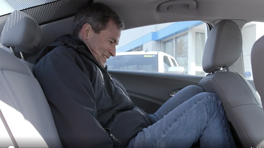 The Chevy Volt's back seat isn't made for tall people.