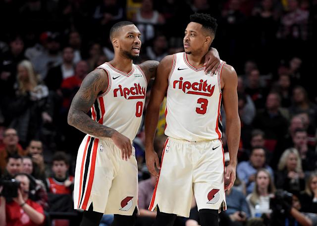 Few backcourts make life more difficult for defenses than Damian Lillard and C.J. McCollum. (Steve Dykes/Getty Images)