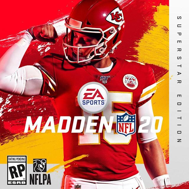 """<a class=""""link rapid-noclick-resp"""" href=""""/nfl/players/30123/"""" data-ylk=""""slk:Patrick Mahomes"""">Patrick Mahomes</a> is the cover star player of the 2020 edition of the """"Madden"""" video game franchise."""