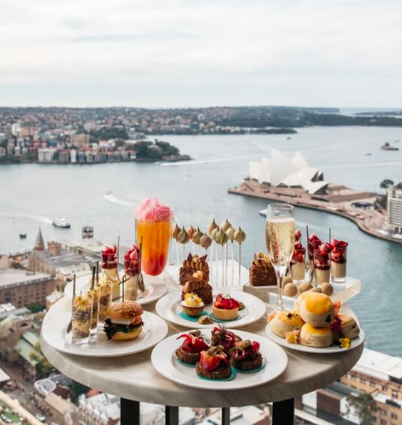 <p>The Shangri-La, Sydney sure knows how to put on a high tea. Offering a luxe selection of sweets all created by the pastry chef, Anna Polyviou, guests will be living the dream. We couldn't control ourselves when it came to the chocolate tarts.<br />Source: Instagram @shangrilasydney </p>
