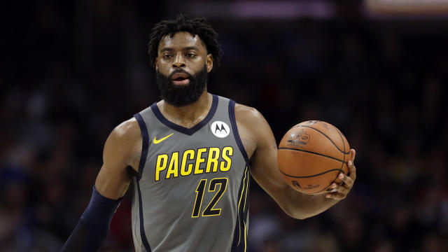 Indiana Pacers' Tyreke Evans during an NBA basketball game Tuesday, March 19, 2019, in Los Angeles. (AP Photo/Marcio Jose Sanchez)