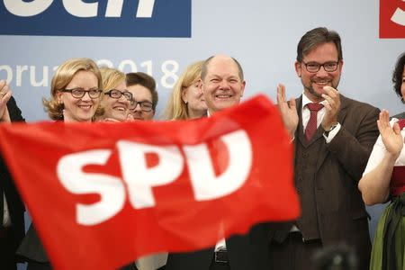 Scholz and Kohnen attend the Social Democratic Party traditional Ash Wednesday meeting in Vilshofen