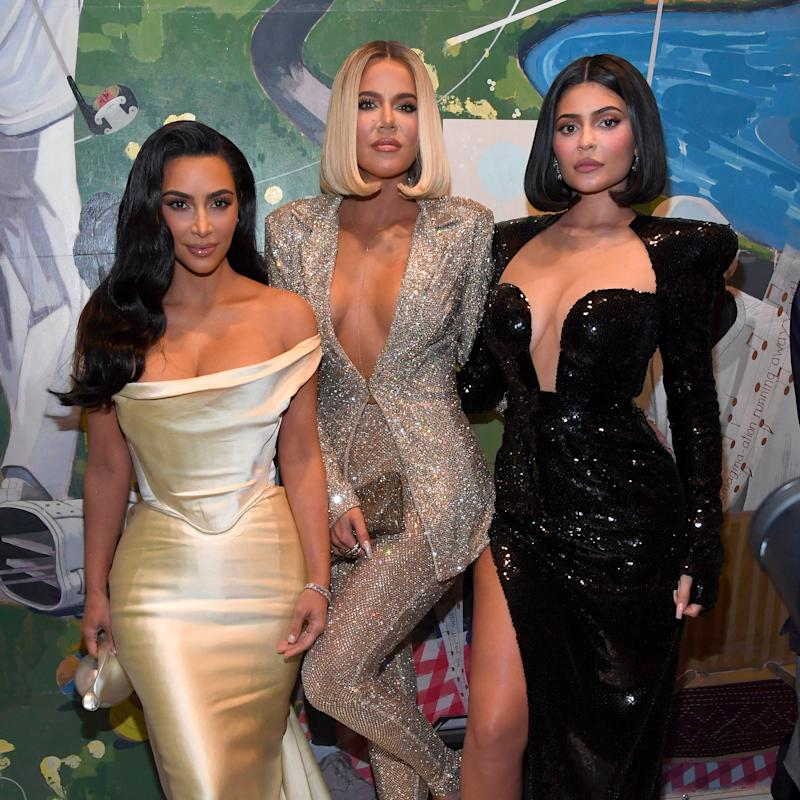 Kim Kardashian West, Khloe Kardashian, and Kylie Jenner attend Sean Combs 50th Birthday Bash presented by Ciroc Vodka on December 14, 2019 in Los Angeles, California. (Photo by Kevin Mazur/Getty Images for Sean Combs)