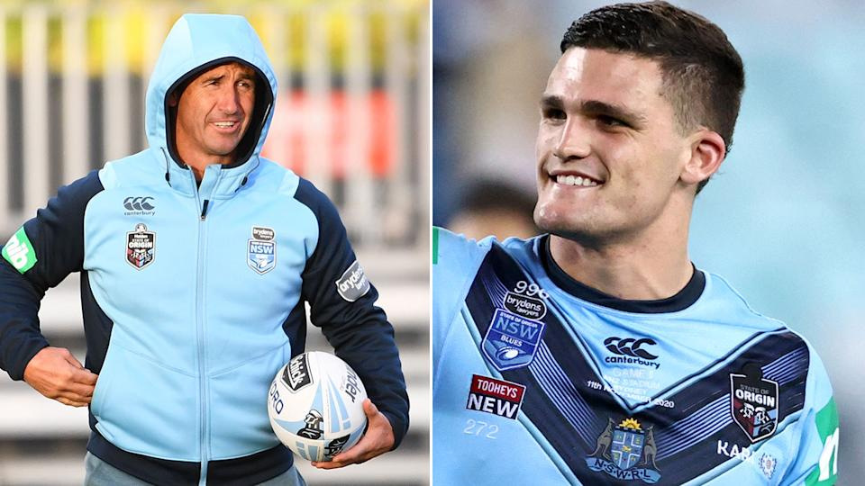 Seen here, Andrew Johns' criticism of Nathan Cleary backfired in Game II.
