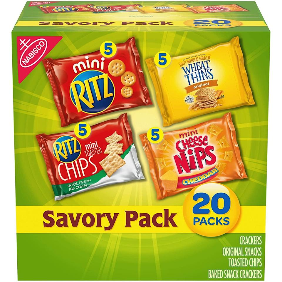 <p>This <span>Nabisco Savory Cracker Variety Pack</span> ($7) is good to share, but we won't tell if you don't.</p>