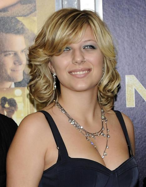 "FILE - This Dec. 7, 2011 file photo shows Stephanie Bongiovi, daughter of rocker Jon Bon Jovi, at the premiere of ""New Year's Eve"" at Ziegfeld Theatre in New York. Authorities say Jon Bon Jovi's 19-year-old daughter is hospitalized after overdosing on heroin in a dorm at her upstate New York college. Town of Kirkland police say an ambulance was sent to Hamilton College early Wednesday, Nov. 14, 2012, after a report that a female had apparently overdosed on heroin. Police say Bongiovi and 21-year-old Ian Grant, also of Red Bank, were charged with drug possession. Both were issued tickets and ordered to appear in court at a later date. (AP Photo/Evan Agostini, file)"