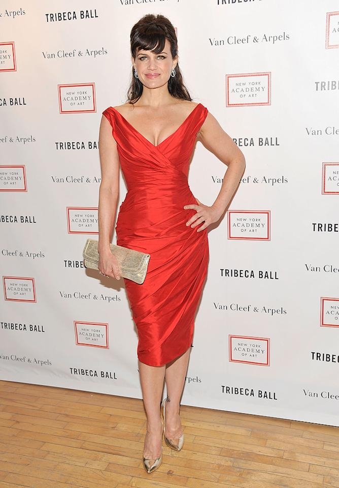 Carla Gugino attends the 2012 Tribeca Ball in New York City, NY.