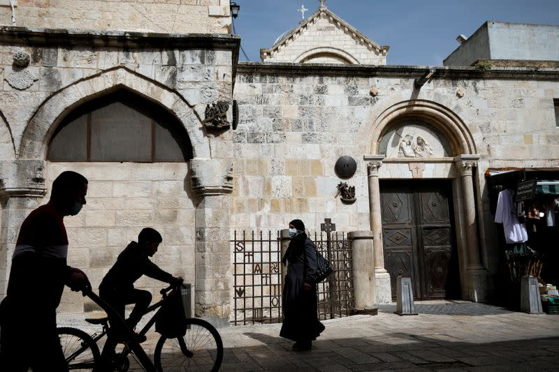 The Wider Image: A drone's eye view of the Holy Land as Christians look to Easter