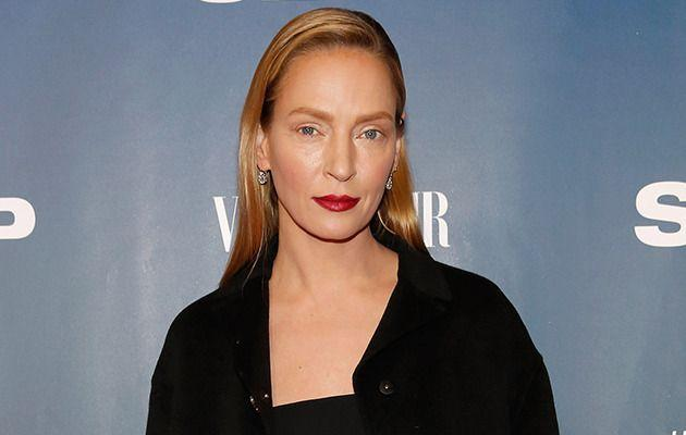 Uma Thurman steps out in New York on Feb 9. Image: Getty Images