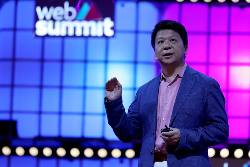 Huawei Rotating Chairman Guo Ping during the annual Web Summit technology conference in Lisbon, Portugal on November 4, 2019. Some 70,000 people are expected to take part in the four-day Web Summit, including speakers from leading global tech companies, politicians and start-ups hoping to attract attention from the over 1,500 investors who are scheduled to attend. (Photo by Pedro Fiúza/NurPhoto via Getty Images)