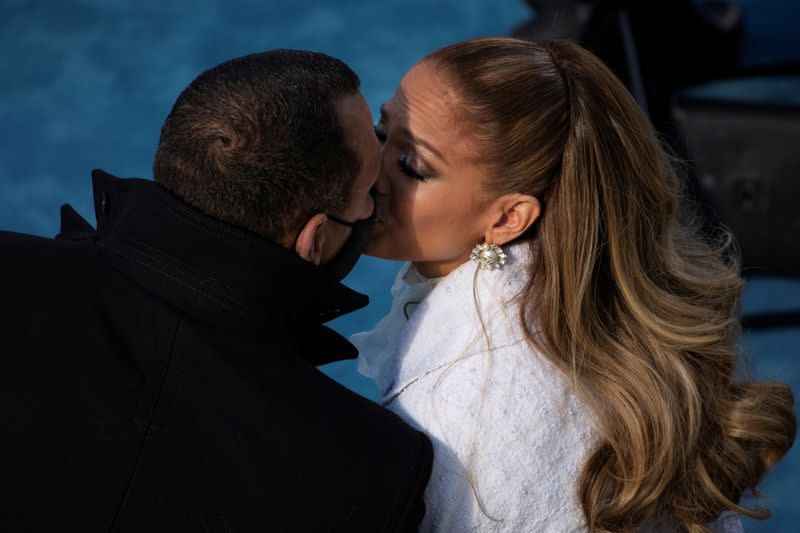 FILE PHOTO: J Lo and A-Rod at Biden's inauguration