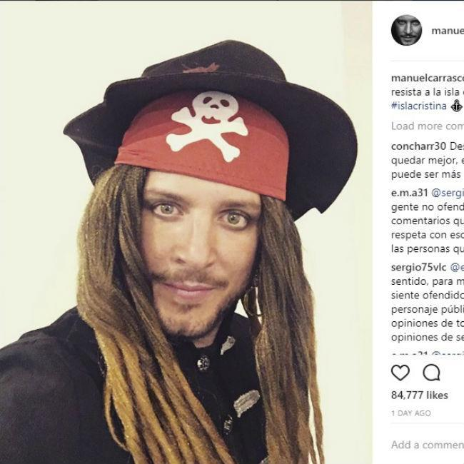 Manuel Carrasco se transforma en Jack Sparrow
