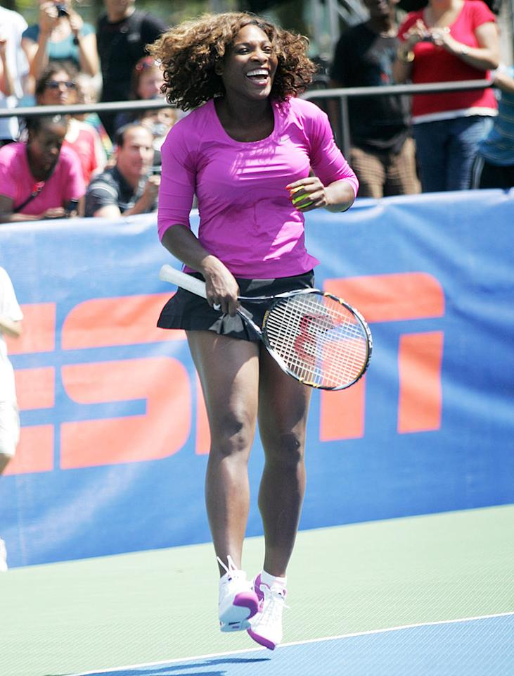 """Will you be watching Serena and her sister when the U.S. Open kicks off on August 31? <a href=""""http://www.splashnewsonline.com/"""" target=""""new"""">Splash News</a> - August 26, 2009"""