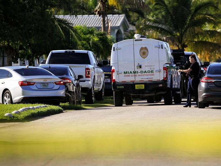 Miami-Dade Police and investigators are on the scene of an overnight shooting where an adult male and pregnant female and two children of the age 4 and 6 were shot during a birthday party in the Miami-Dade neighborhood of Richmond Heights on Sunday, September 19, 2021.