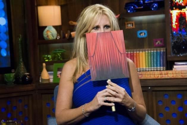 'The Real Housewives of Orange County's' Vicki Gunvalson appears on Bravo's 'Watch What Happens Live' on April 1, 2013 -- Bravo