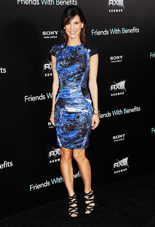 "<a href=""http://movies.yahoo.com/movie/contributor/1800165147"">Perrey Reeves</a> at the New York City premiere of <a href=""http://movies.yahoo.com/movie/1810167524/info"">Friends With Benefits</a> on July 18, 2011."