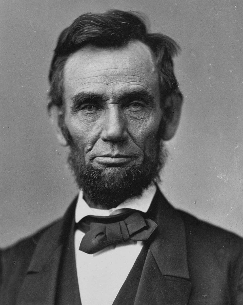 """<span class=""""caption"""">Abraham Lincoln.</span> <span class=""""attribution""""><a class=""""link rapid-noclick-resp"""" href=""""http://museums.fivecolleges.edu/detail.php?t=objects&type=ext&f=&s=&record=0&id_number=1947.135"""" rel=""""nofollow noopener"""" target=""""_blank"""" data-ylk=""""slk:Alexander Gardner/Five Colleges and Historic Deerfield Museum Consortium"""">Alexander Gardner/Five Colleges and Historic Deerfield Museum Consortium</a></span>"""