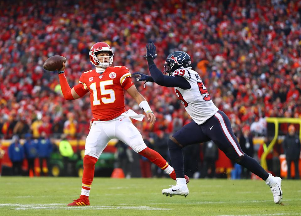 Arrowhead Stadium can normally hold more than 70,000 fans for home games like the last time the team hosted the Houston Texans. In 2020, the team is reducing max capacity to 16,000 to allow for safe distancing. (Mark J. Rebilas-USA TODAY Sports)