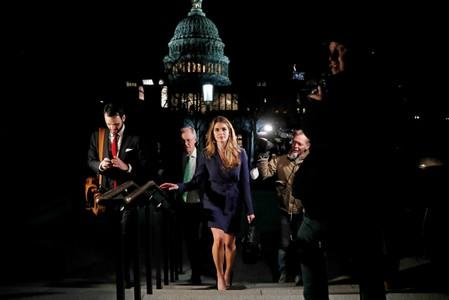 FILE PHOTO: White House Communications Director Hope Hicks leaves the U.S. Capitol after attending the House Intelligence Committee closed door meeting in Washington