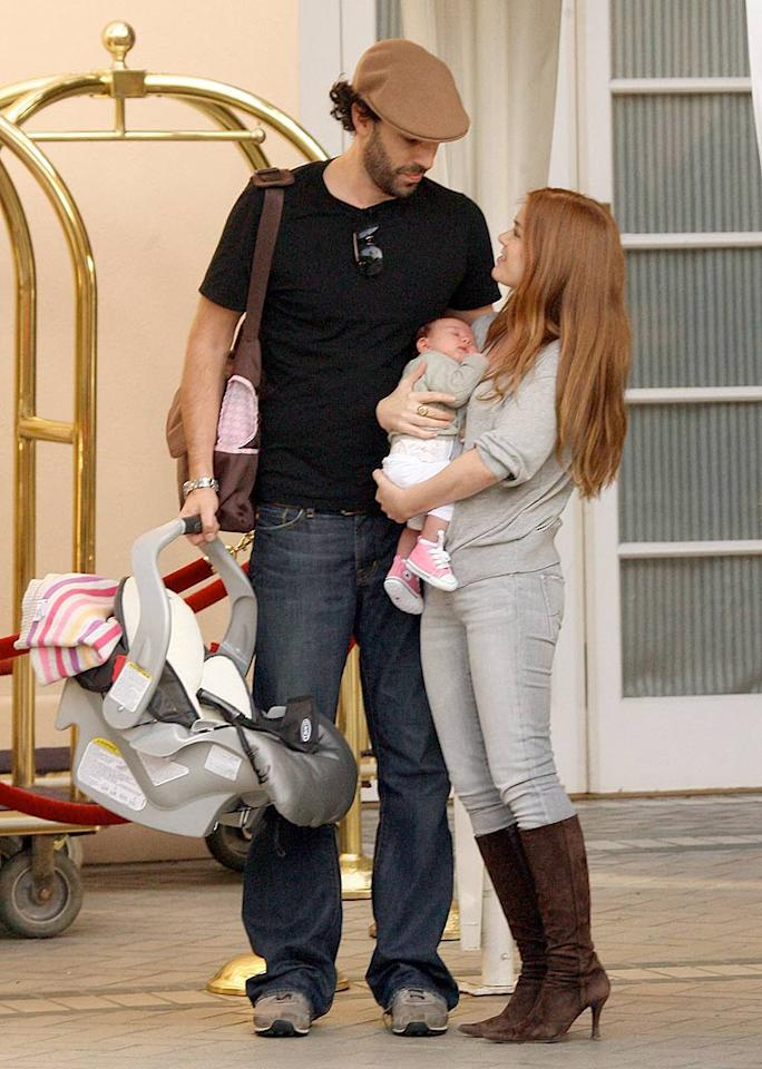 """It's hard to think of """"Borat"""" star Sacha Baron Cohen as a father, but he's taking the role seriously. MWD/<a href=""""http://www.x17online.com"""" target=""""new"""">X17 Online</a> - November 22, 2007"""