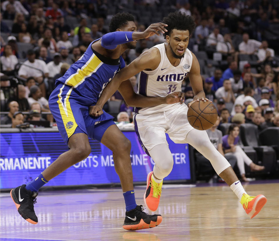 The Sacramento Kings selected Marvin Bagley III No. 2 overall, with the expectation that he can help end the franchise's 12-year playoff drought. (AP)