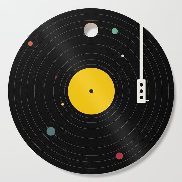 <p>The <span>Music, Everywhere Cutting Board<br> </span> ($19, originally $27) is a fun and edgy way to punch up the kitchen. You better get a big enough stocking!</p>