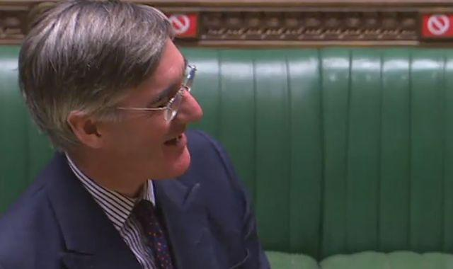 Jacob Rees-Mogg plays Rule, Britannia! in Commons chamber to celebrate BBC U-turn